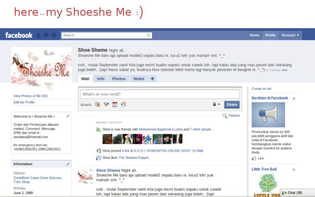 Here my facebook page for Shoeshe Me ^_^