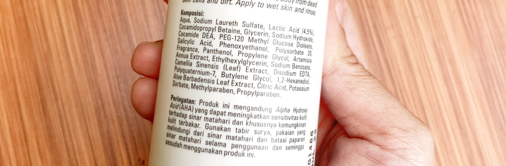 Daftar Bahan Ingredients Erha Acne Body Wash